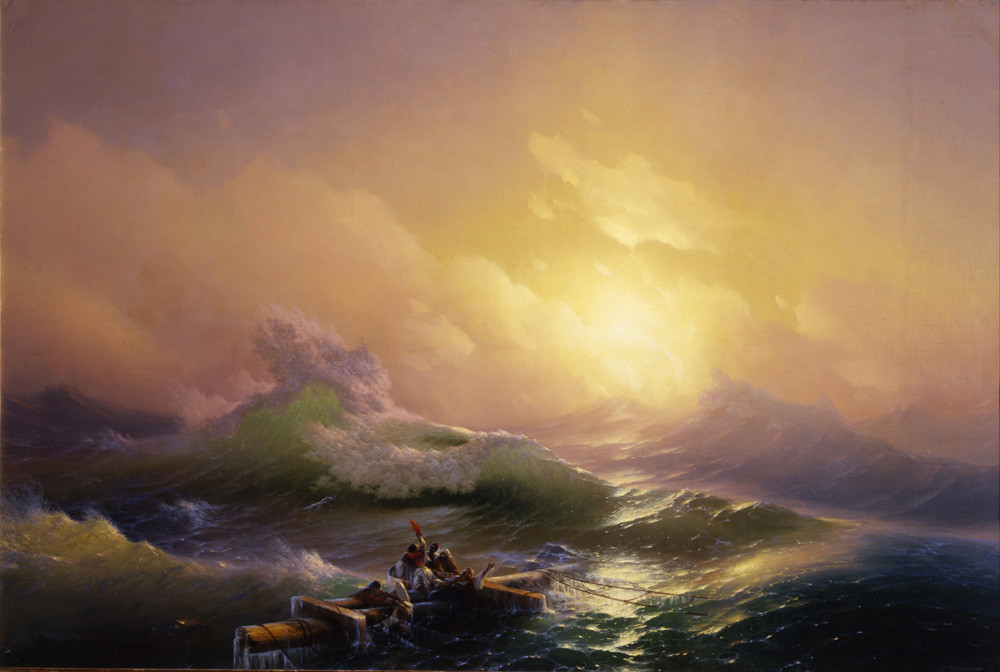 La Neuvième Vague par Ivan Aïvazovski