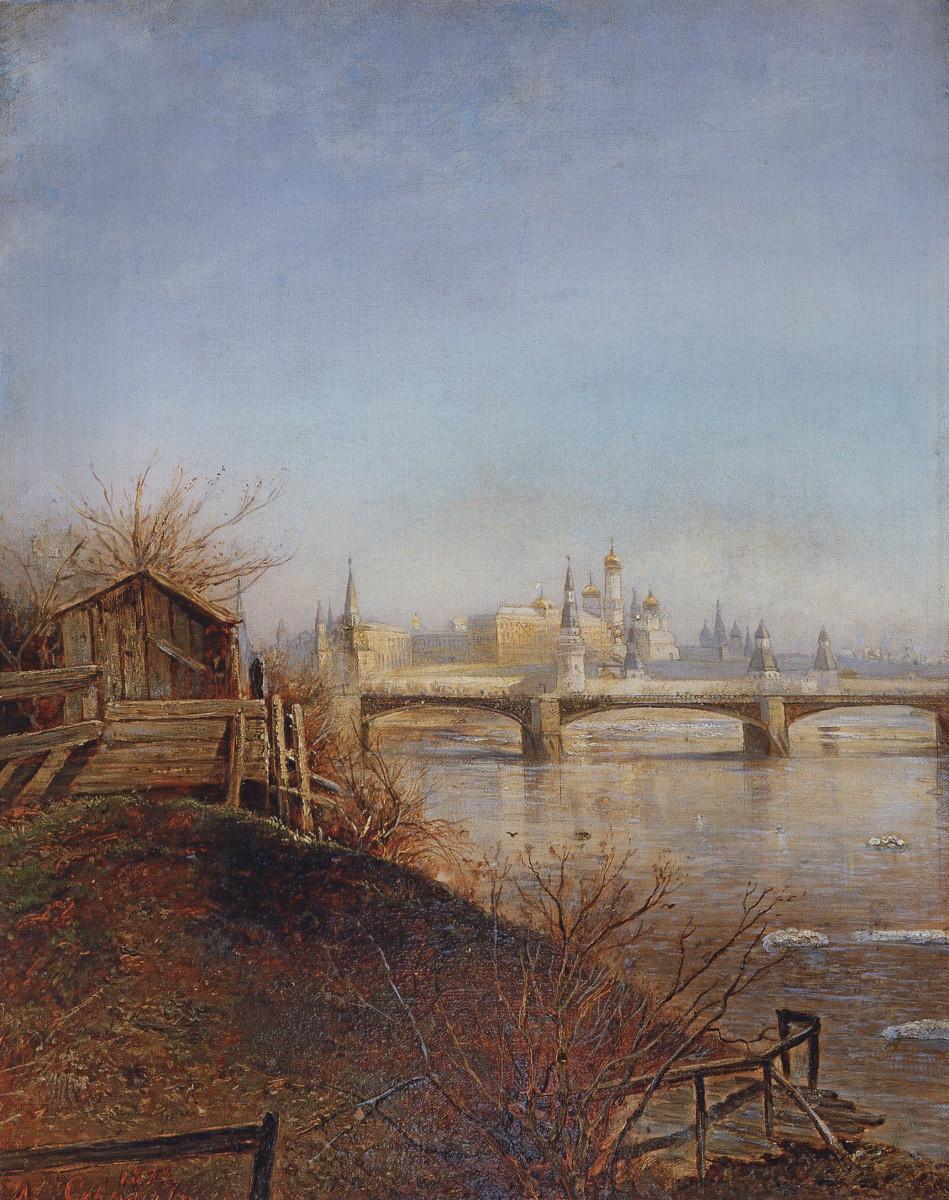 Vue du Kremlin de Moscou. Printemps par Alexeï Savrassov