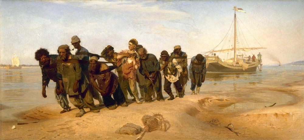 Les Bateliers de la Volga par Ilya Repine