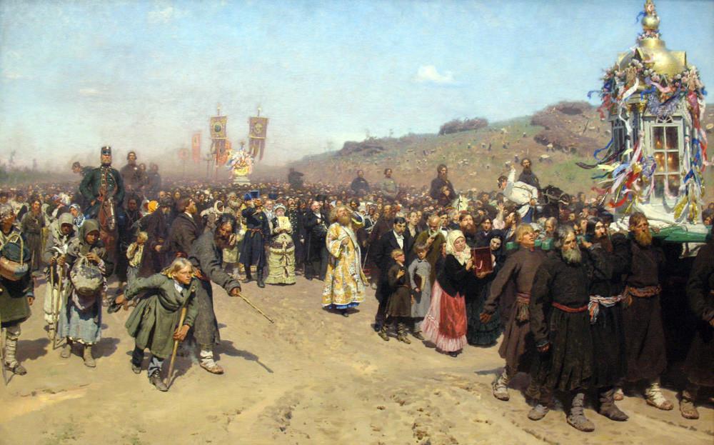 Procession religieuse dans la province de Koursk par Ilya Repine