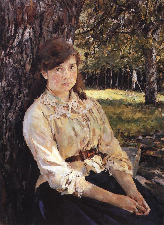 Jeune fille éclairée par le soleil par Valentin Serov