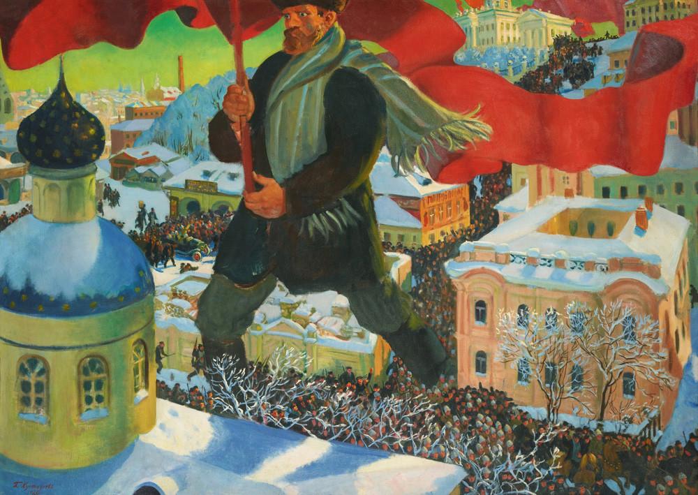 Le Bolchevik par Boris Koustodiev