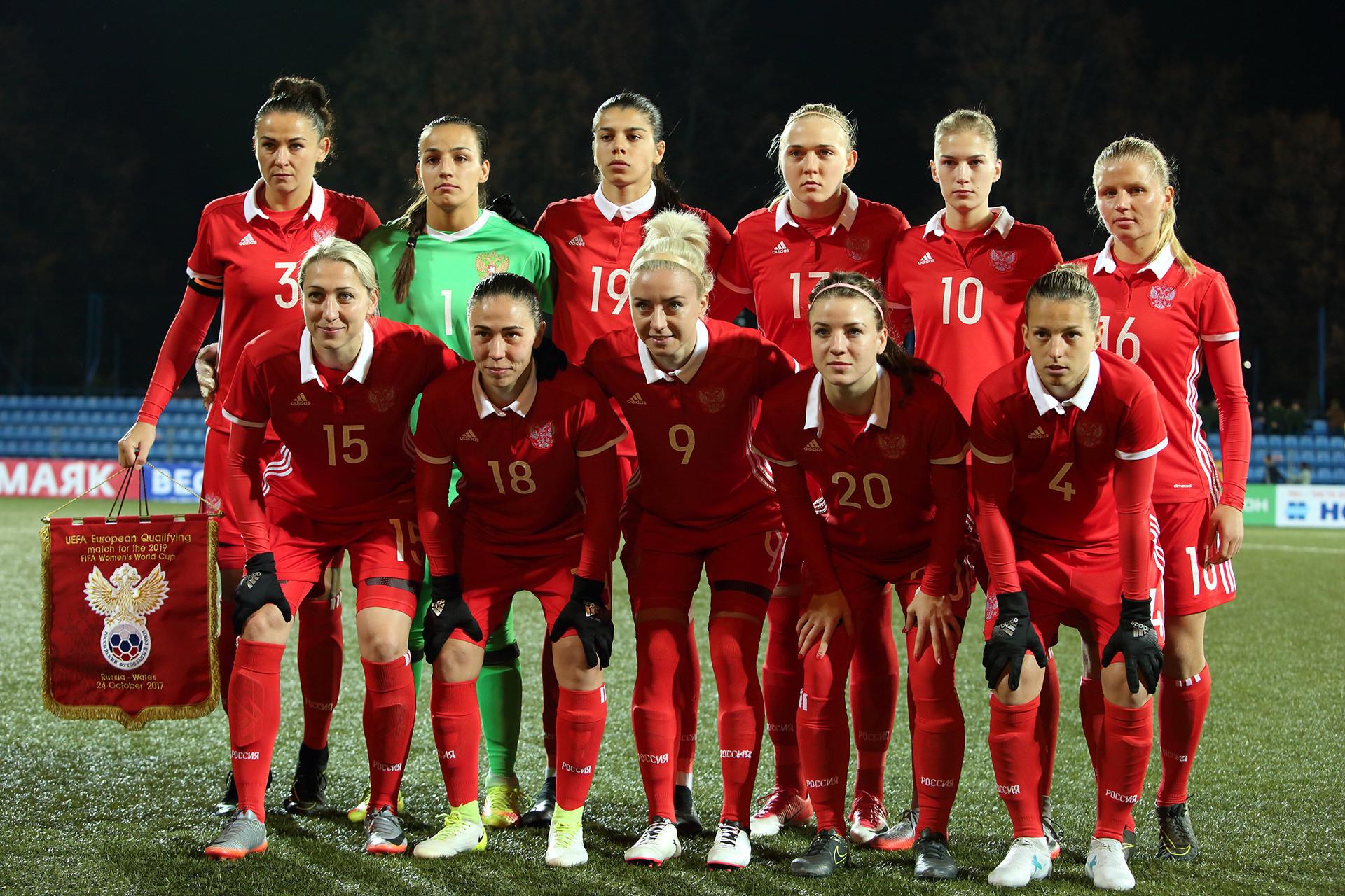 Selección nacional de Rusia durante el torneo clasificatorio para la Copa Mundial Femenina de Fútbol de 2019.