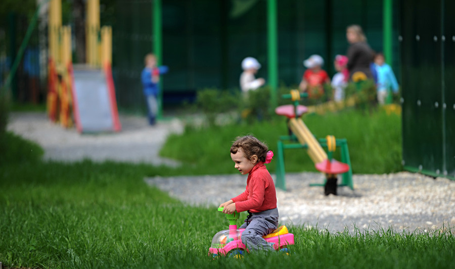 A girl at Kindergarten No. 406, Moscow.