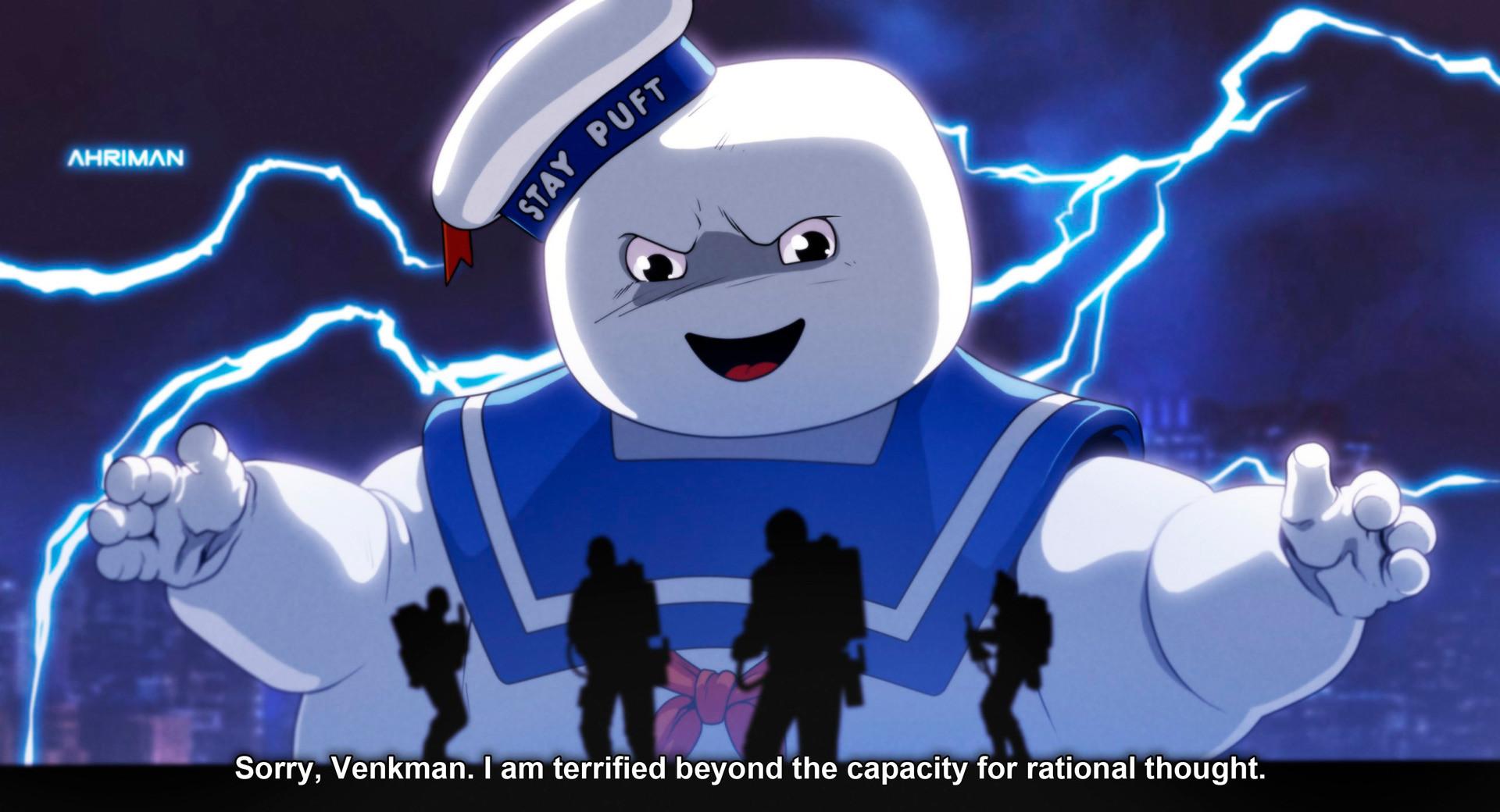 Désolé, Venkman, je suis terrifié au-delà de ma capacité à raisonner de manière rationnelle.
