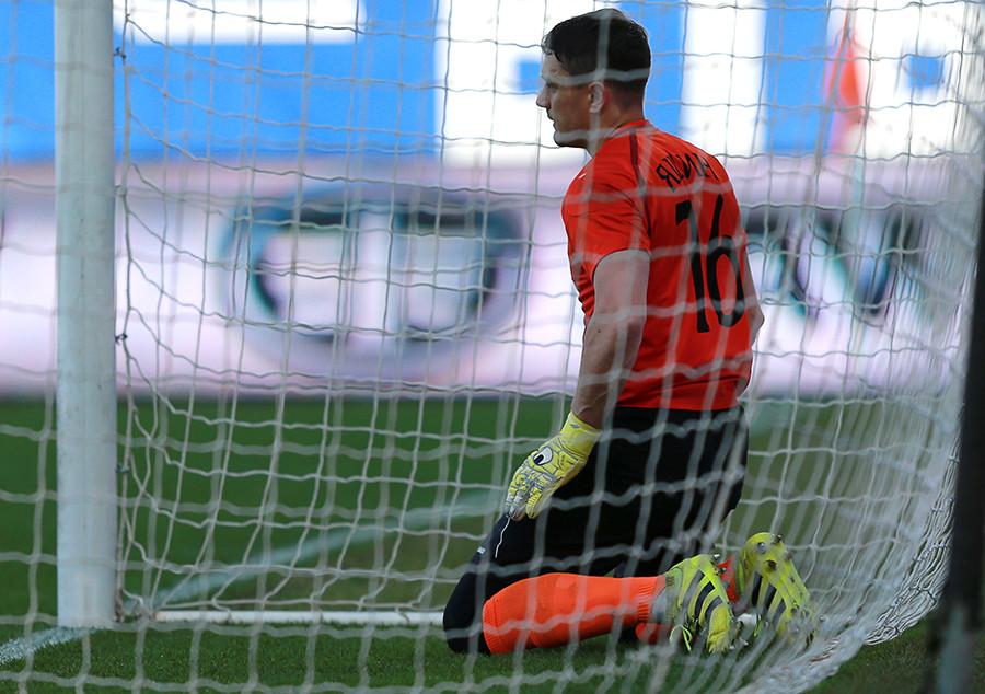 Shinnik goalkeeper Dmitry Yashin