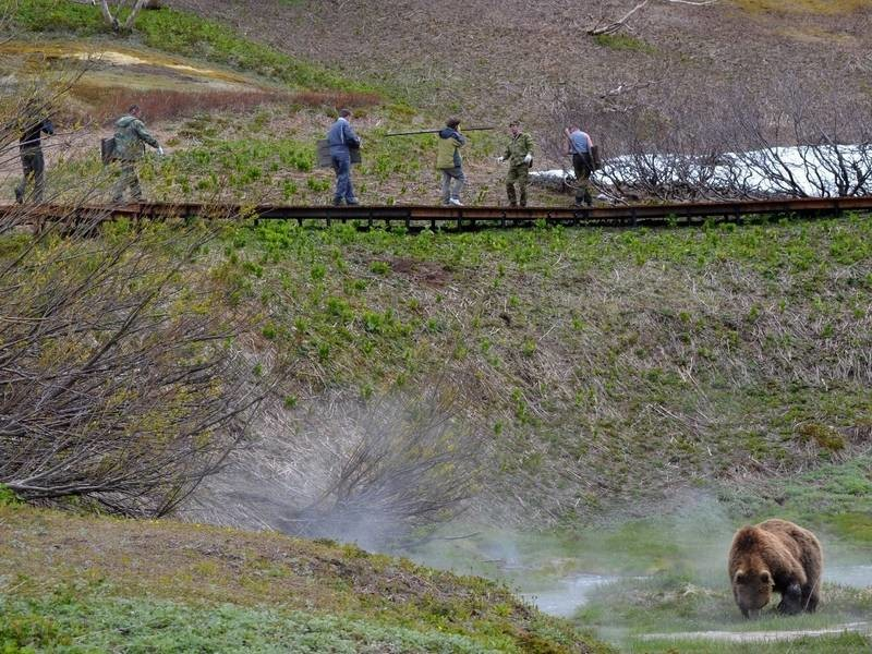 Lembah Geiser, Kamchatka.