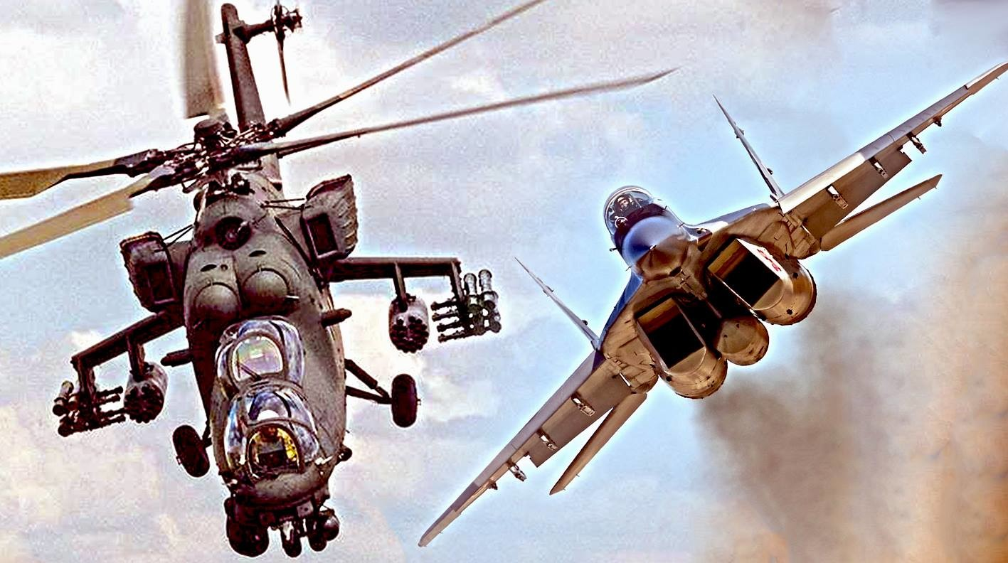 Ударни хеликоптер Ми-35М и ловачки авион МиГ-29
