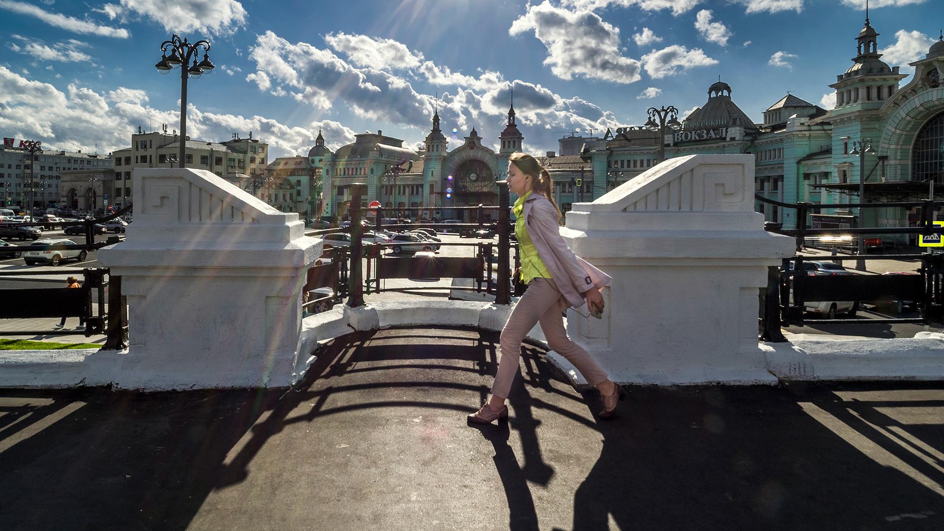 Russia, Moscow. Tverskaya Zastava Square.