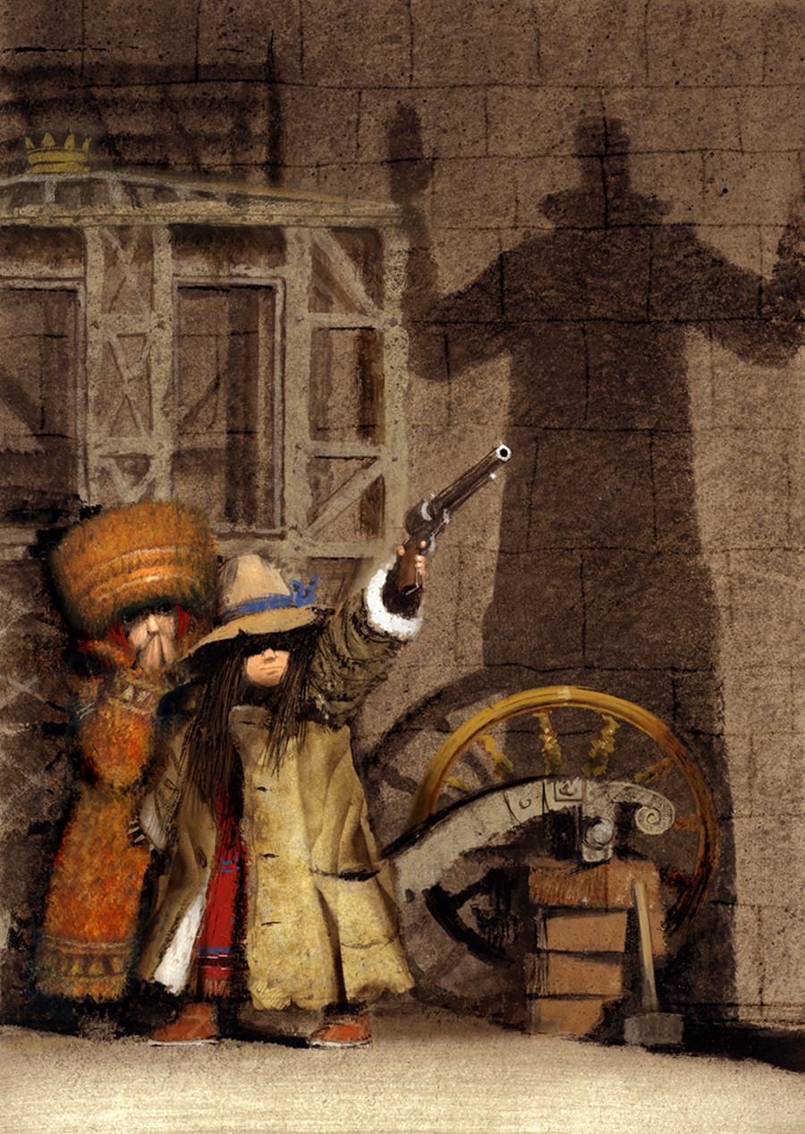 Don Quixote oleh Evgeny Schwartz (Azbuka, 2017)