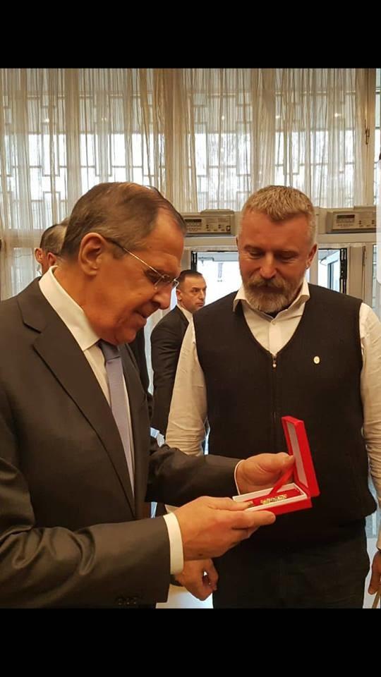 Боро Ђукић и министар спољних послова Руске Федерације Сергеј Лавров