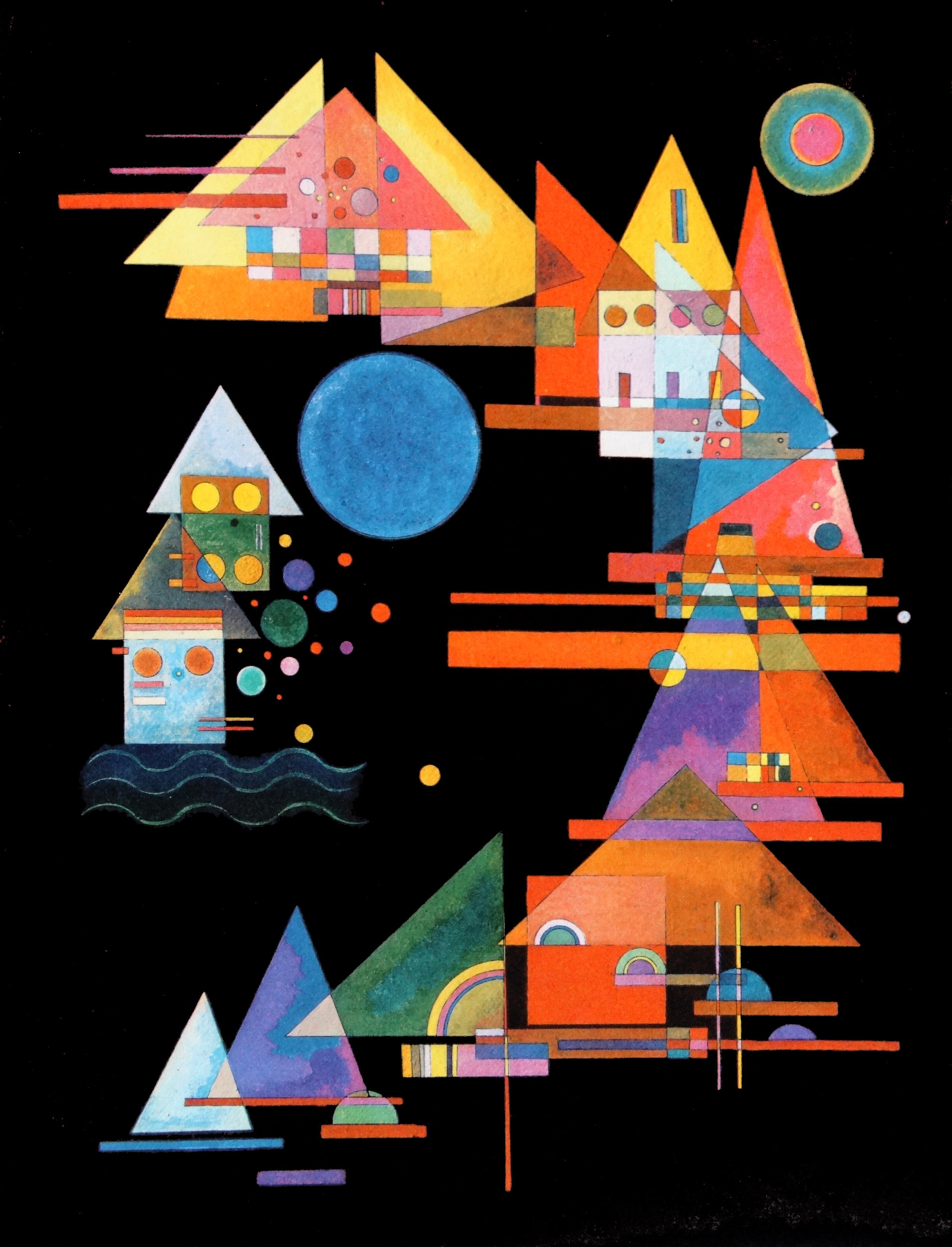 Triangles dans une courbe par Vassili Kandinsky