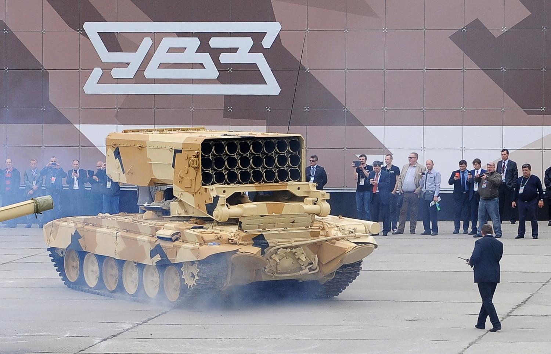 """Тешки вишецевни бацач ракета ТОС-1 """"Буратино"""" ."""