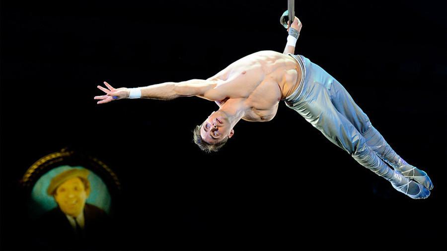 Gimnastičar Sergej Akimov, Moskovski cirkus na Cvjetnom bulevaru.