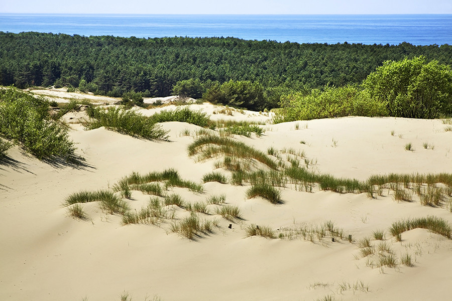 The Curonian Spit, home to Europe's highest sand dunes