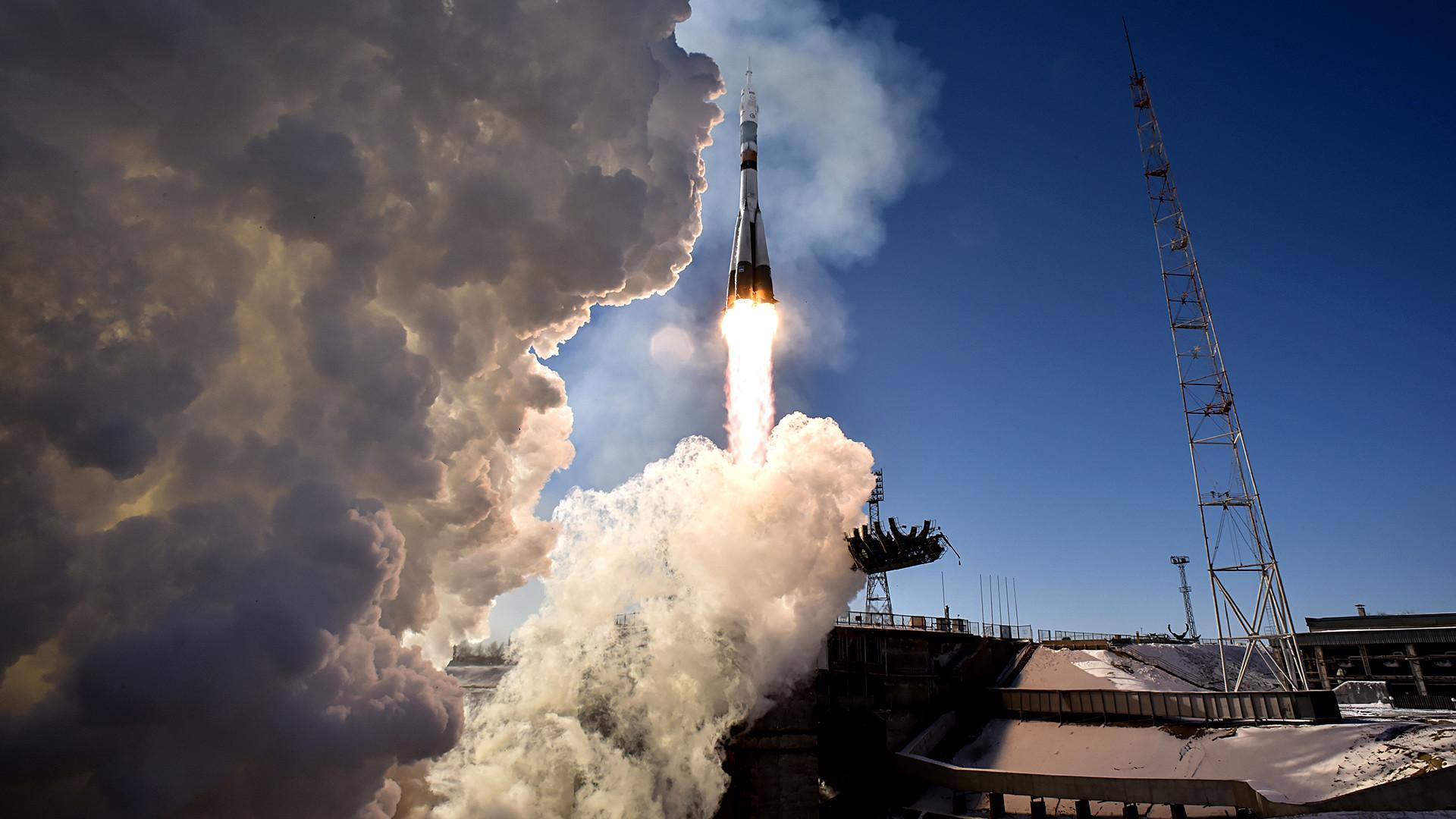 Russia's Soyuz MS-07 spacecraft.