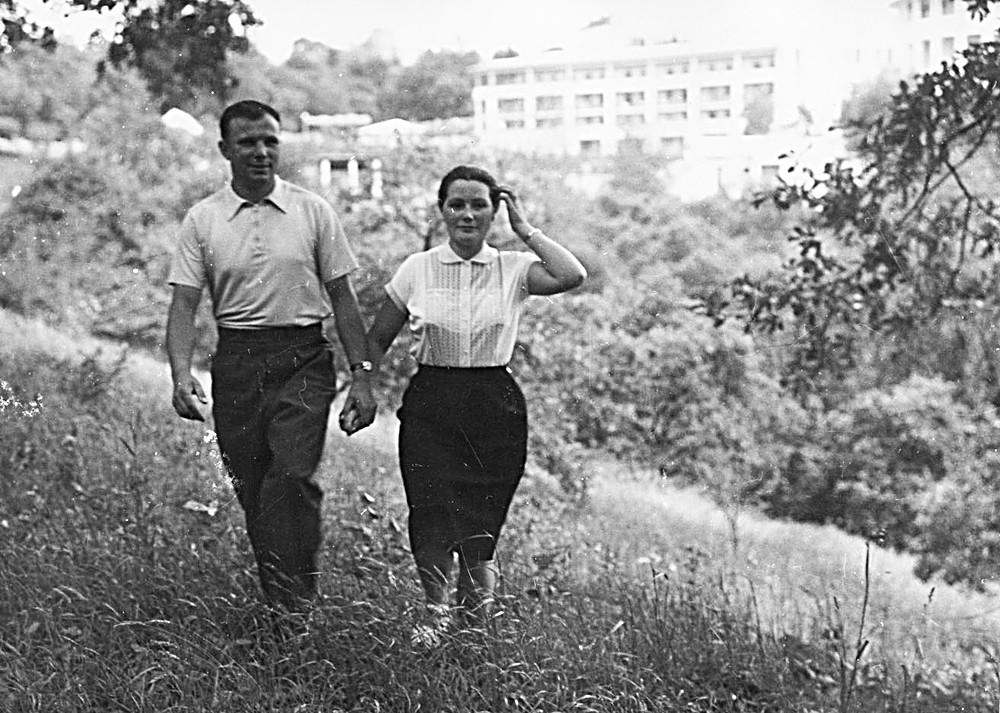 Iouri Gagarine avec sa femme, Valentina