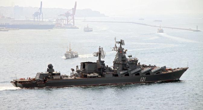 Crucero 'Moskvá'.