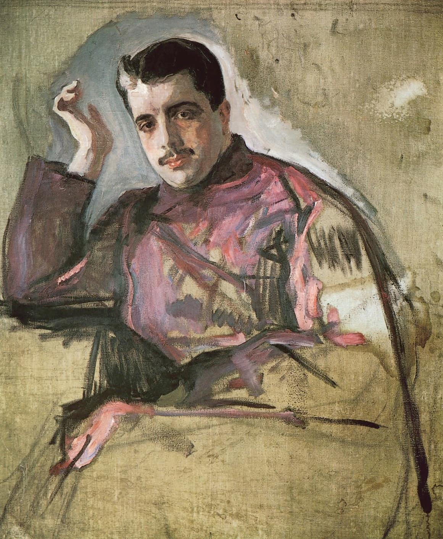 Portrait of Sergei Diaghilev by Valentin Aleksandrovich Serov
