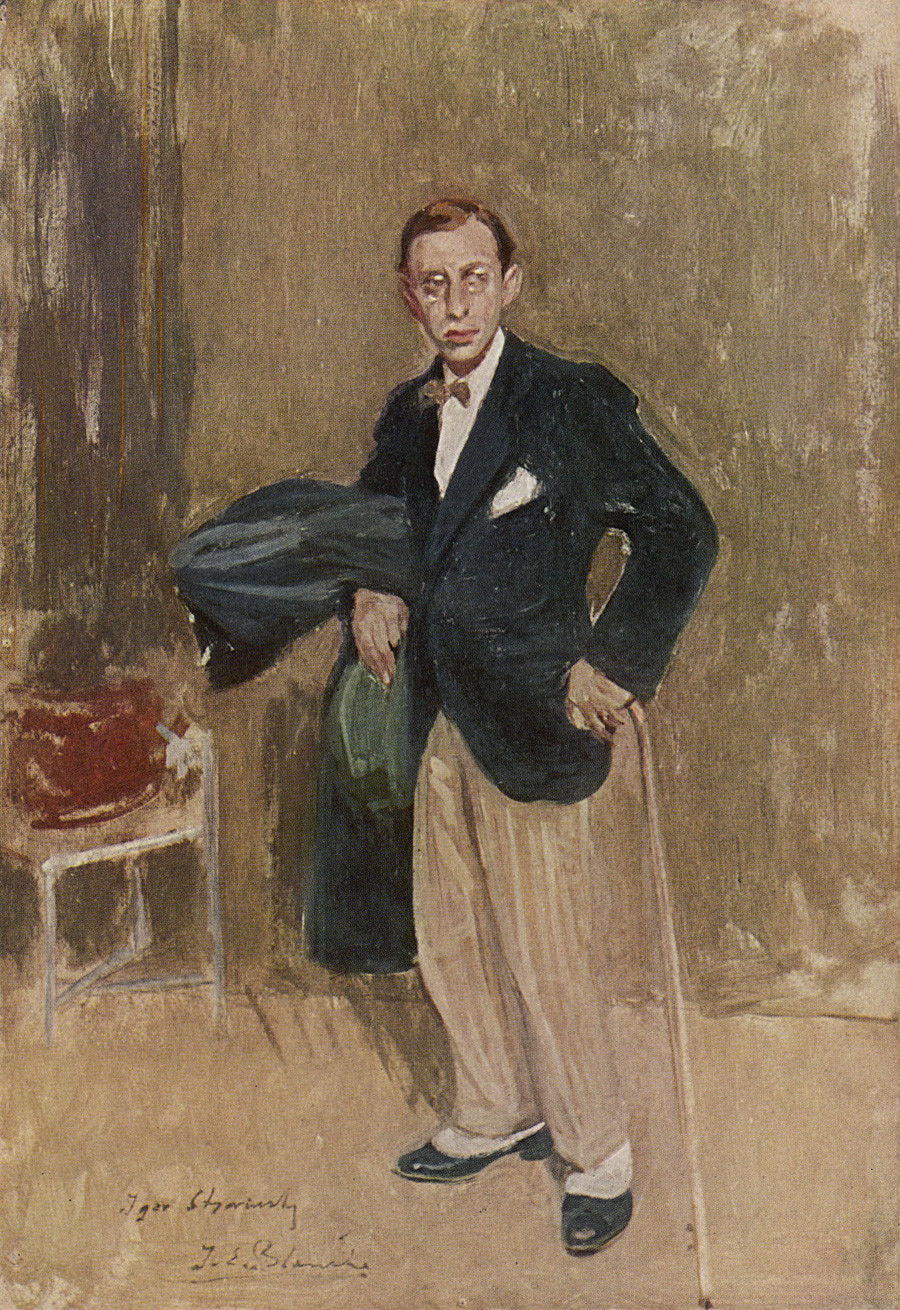 The portrait of Igor Stravinsky by Jacques-Emile Blanche.