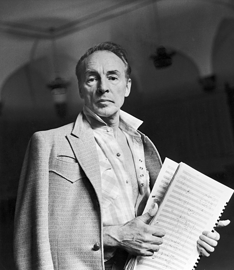 Portrait of choreographer and dancer George Balanchine, New York, 1962