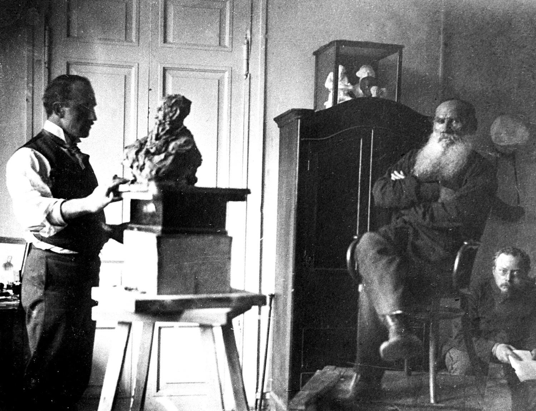 パヴェル・トルベツコイとレフ・トルストイ