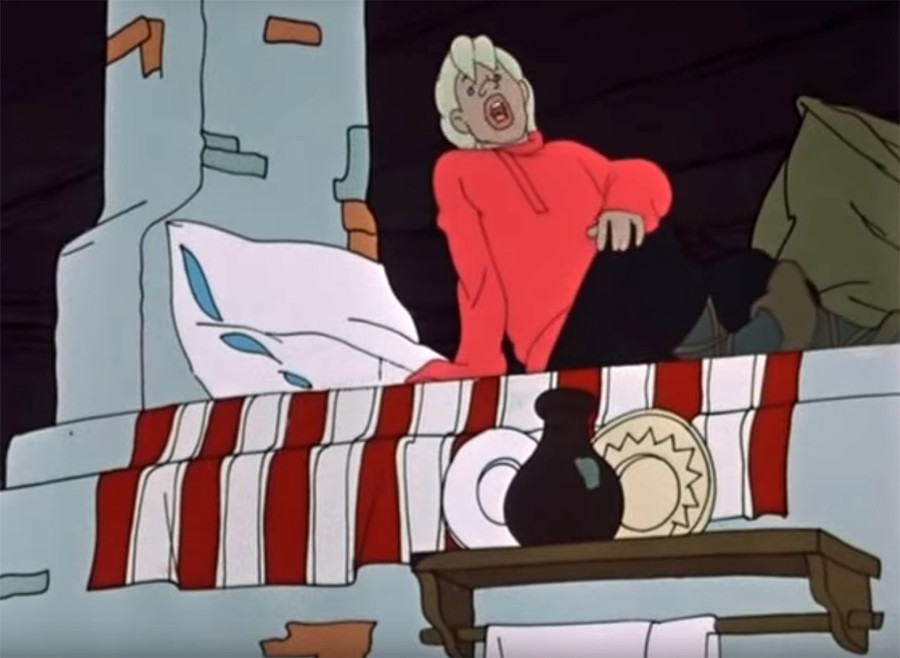 Screenshot from the Soviet animation 'Wish upon a Pike'