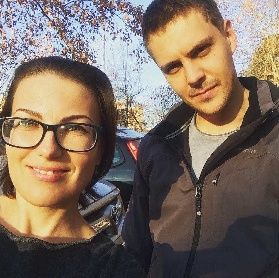 Катарина Лане и Милош Биковић
