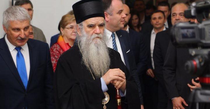 Денис Добрјаков и Митрополит Амфилохије