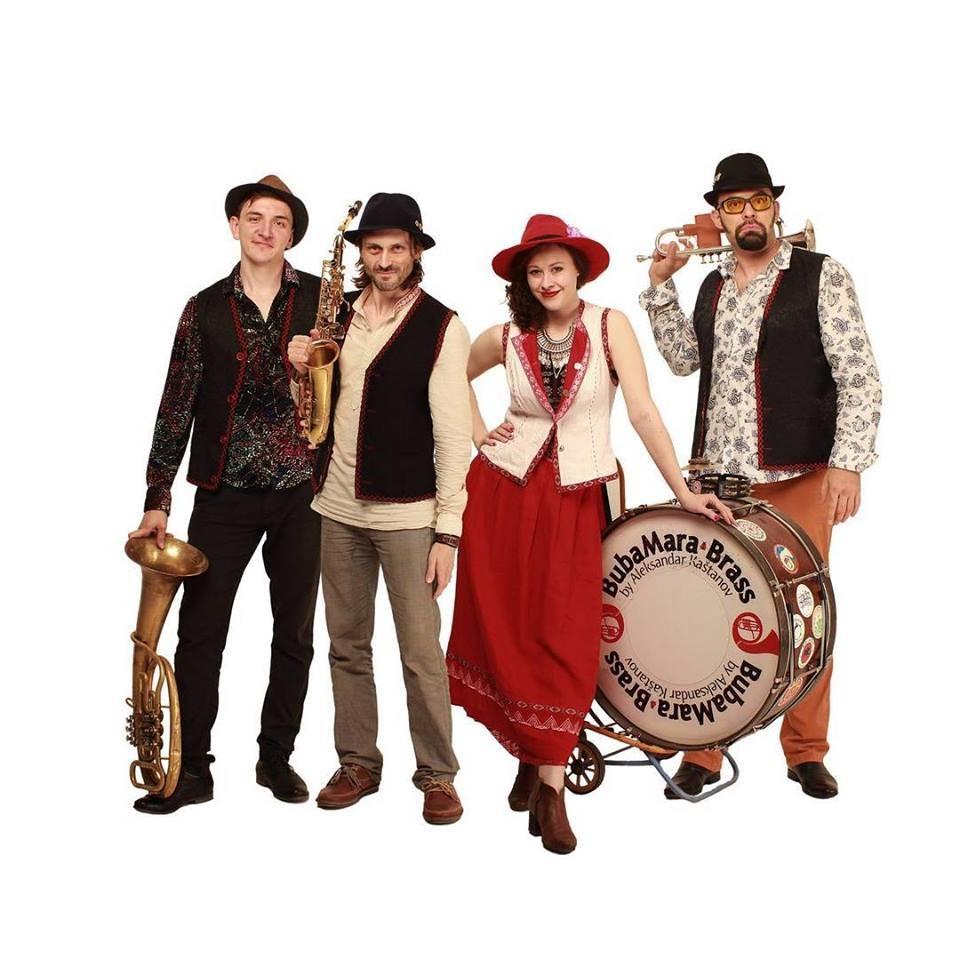 Група Buba Mara Brass, които правят музикални участия в