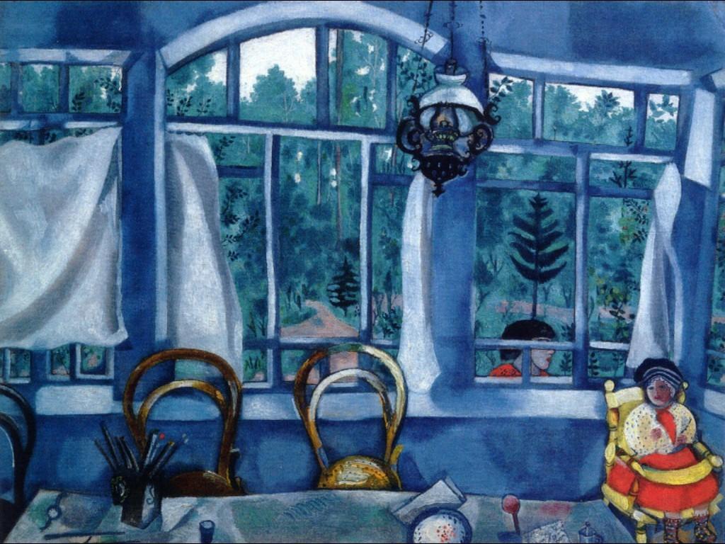 Das Fenster zum Garten, 1917 (Museumswohnung von Joseph Brodsky, Sankt Petersburg)