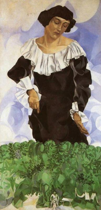 Bella mit Weißem Kragen, 1917,  Privatsammlung