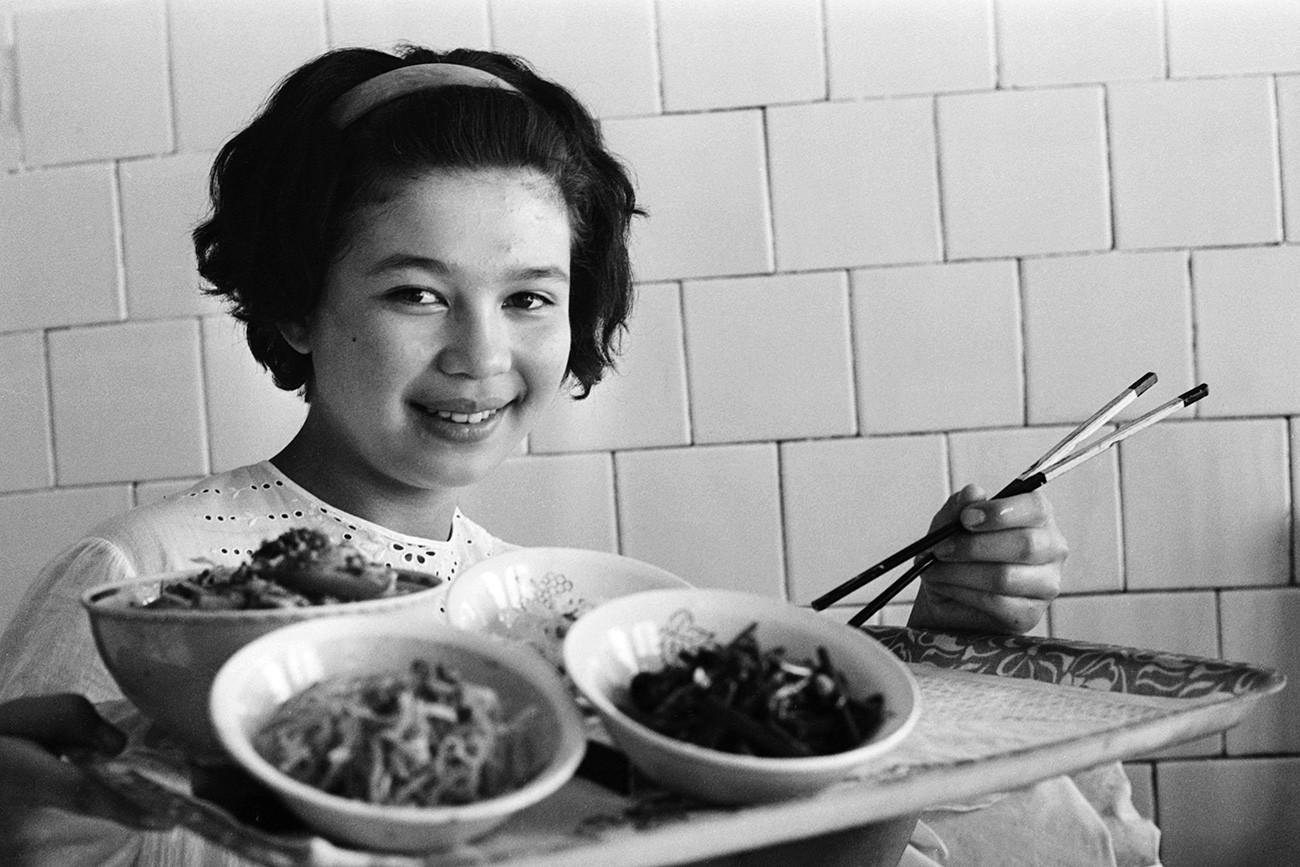 Orang Korea di Asia Tengah berhasil melestarikan tradisi kuliner mereka.