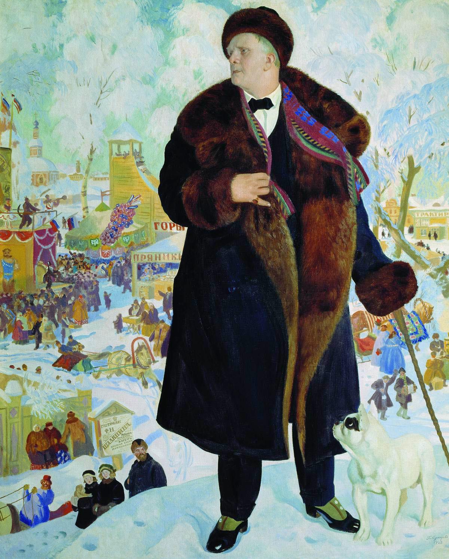 Retrato de Fiodor Chaliapin, obra de Borís Kustódiev.