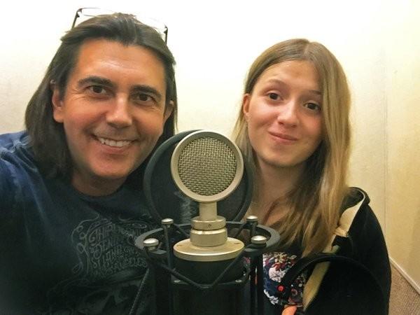 Skladatelj Vasilij Bogatirjov i Alina Kukuškina koja je prva