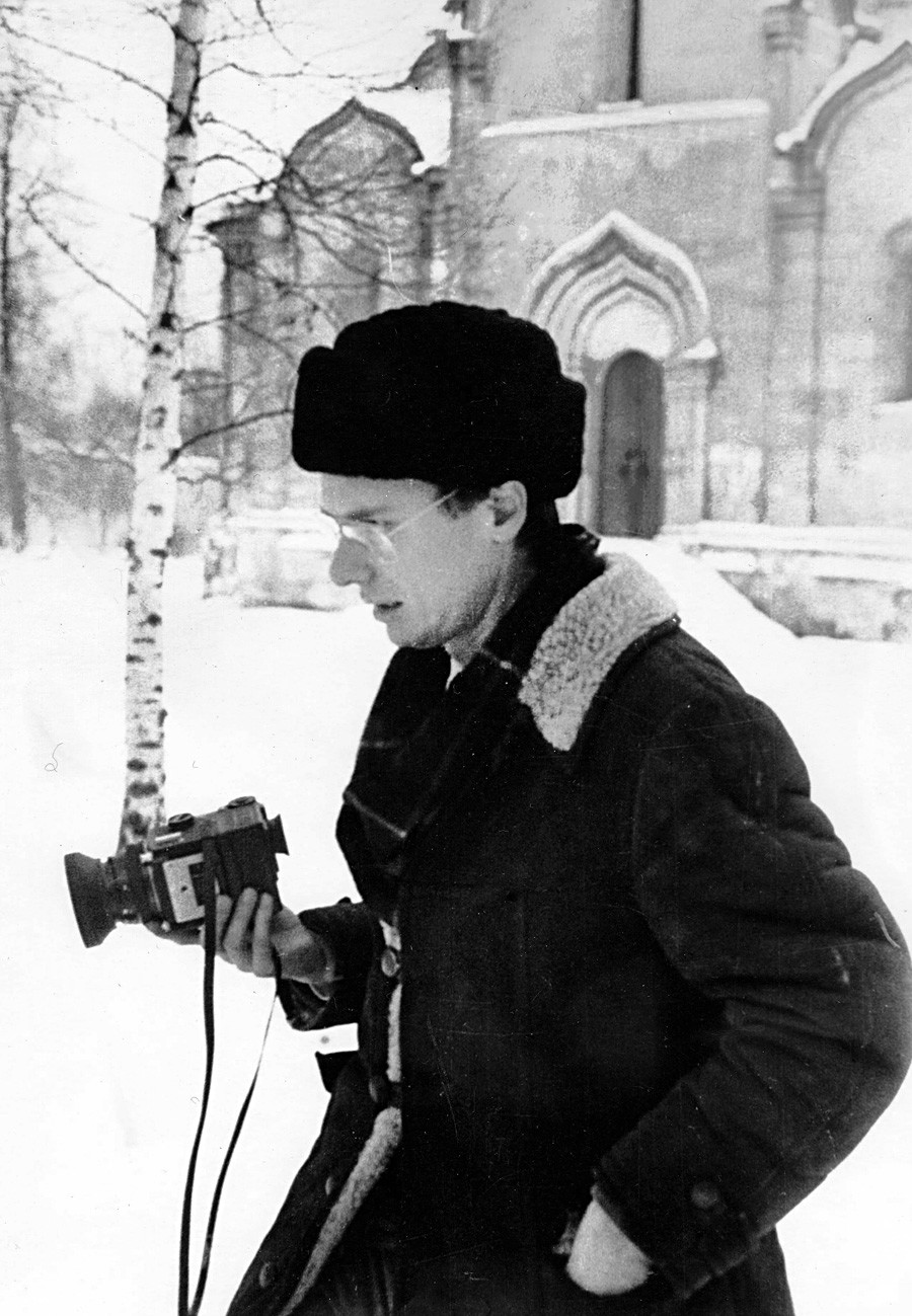 Young Brumfield near Andronikov Monastery in Moscow, 1979