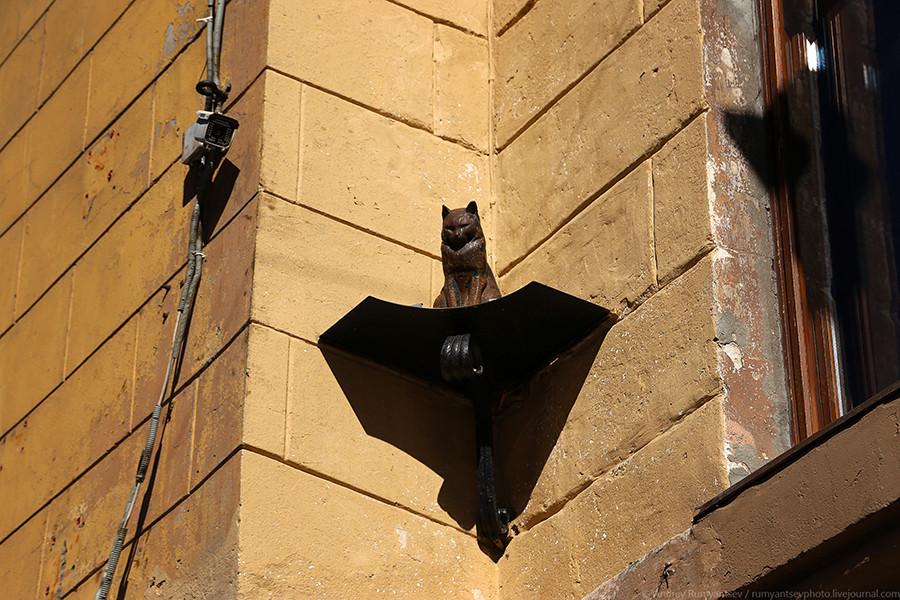 Katze Jelisej: Während der Leningrader Blockade stellten Ratten eine besonders große Gefahr für die Menschen dar. Im heutigen Sankt Petersburg erinnert nun diese Katzenstatue an den damals so wichtigen Kampf gegen die Nager.