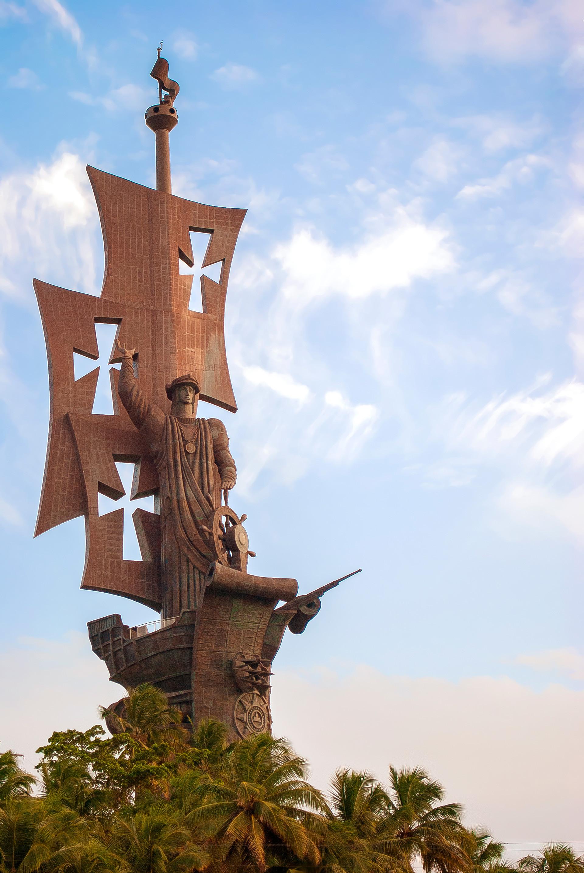 Estatua del Colón en Puerto Rico.