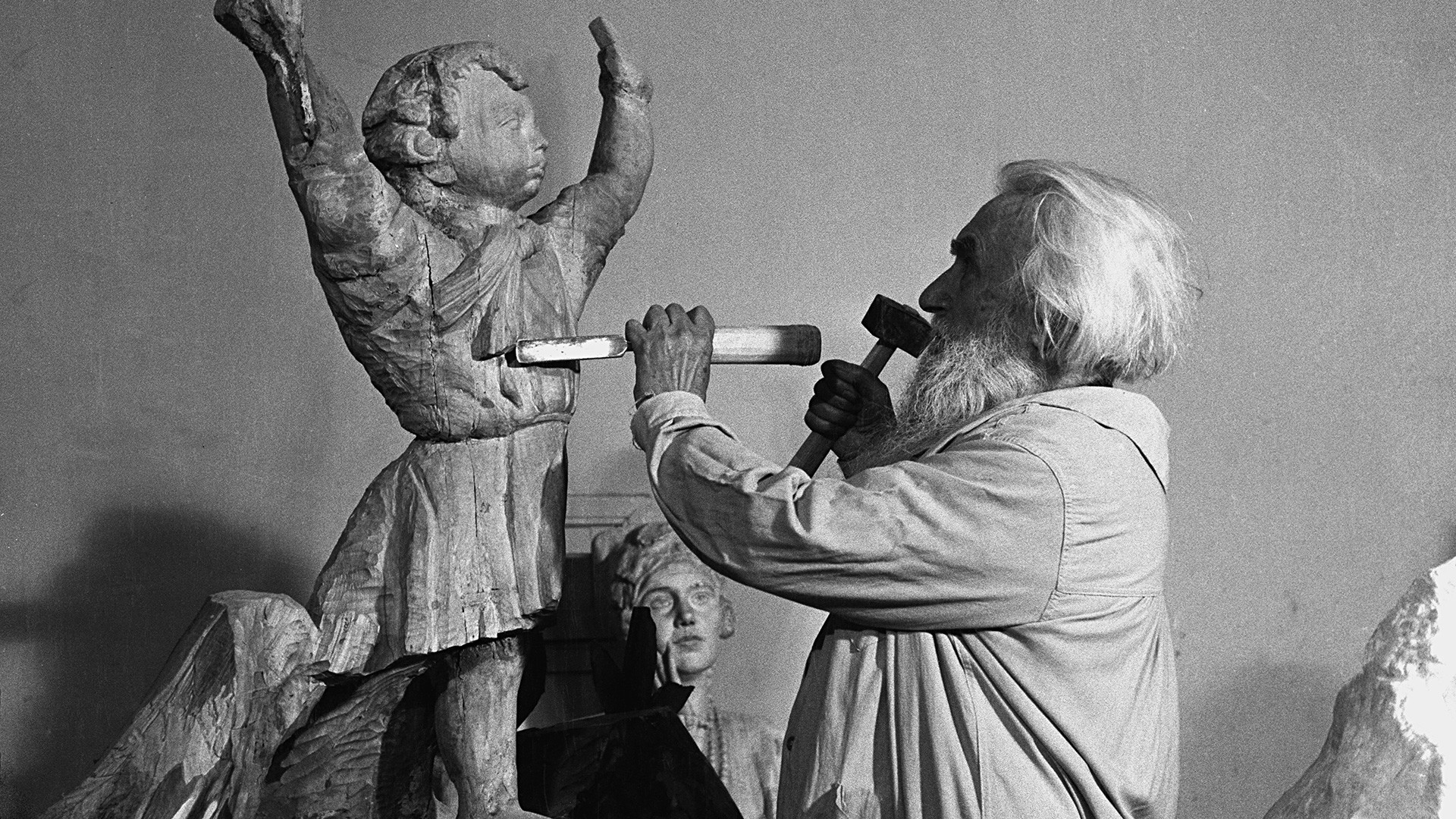 Le sculpteur soviétique Sergueï Konenkov