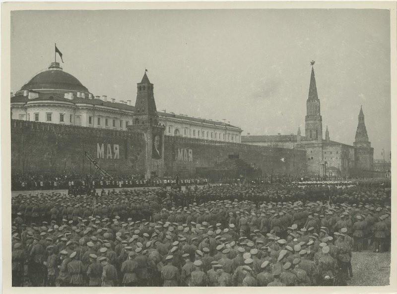 Primero de mayo de 1925 en la Plaza Roja, Moscú.