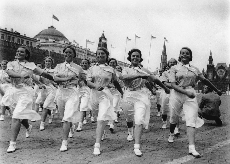 1 de mayo en la Plaza Roja, 1940.