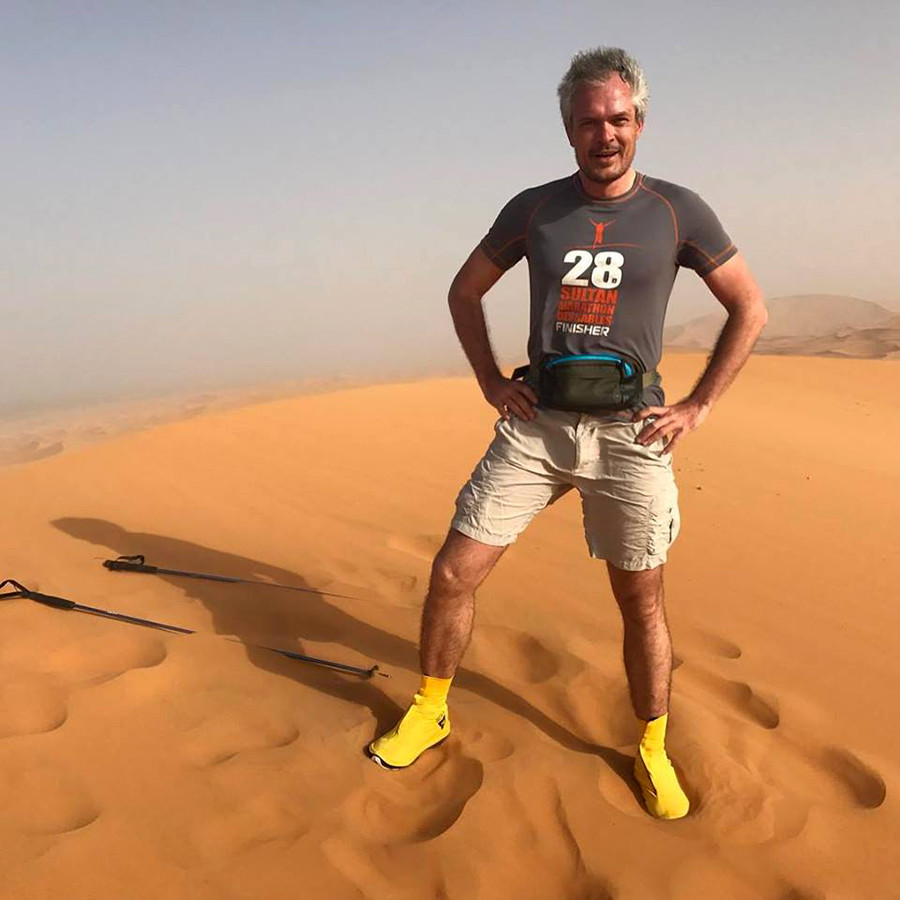 Dmitry on Erg Chebbi dune, Sahara, 2013