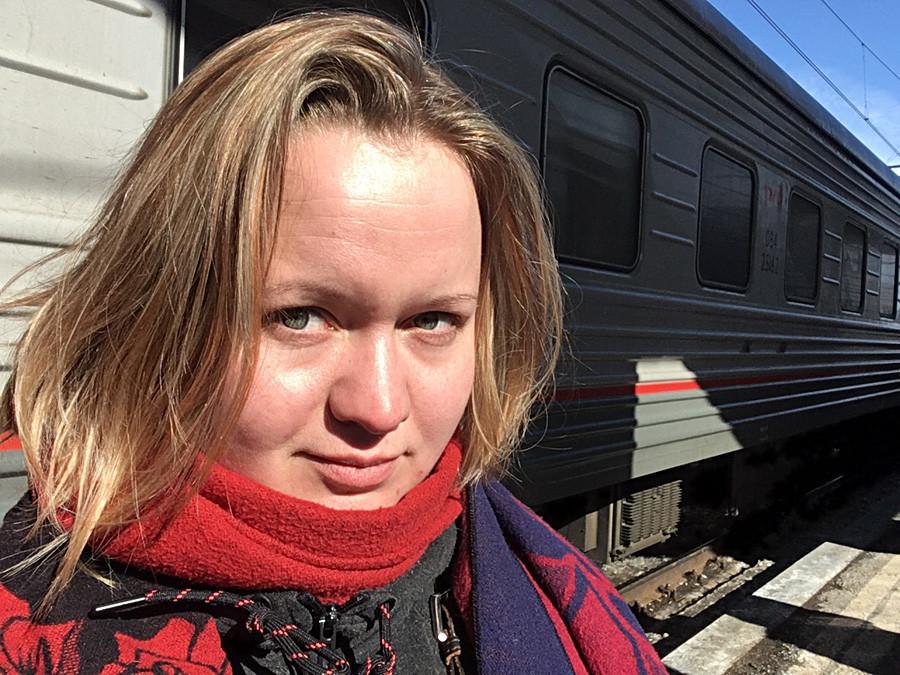 Um olhar realmente transsiberiano: no terceiro dia andando na terceira classe do trem (platskart).