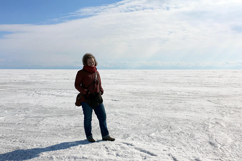 No lago Baikal.