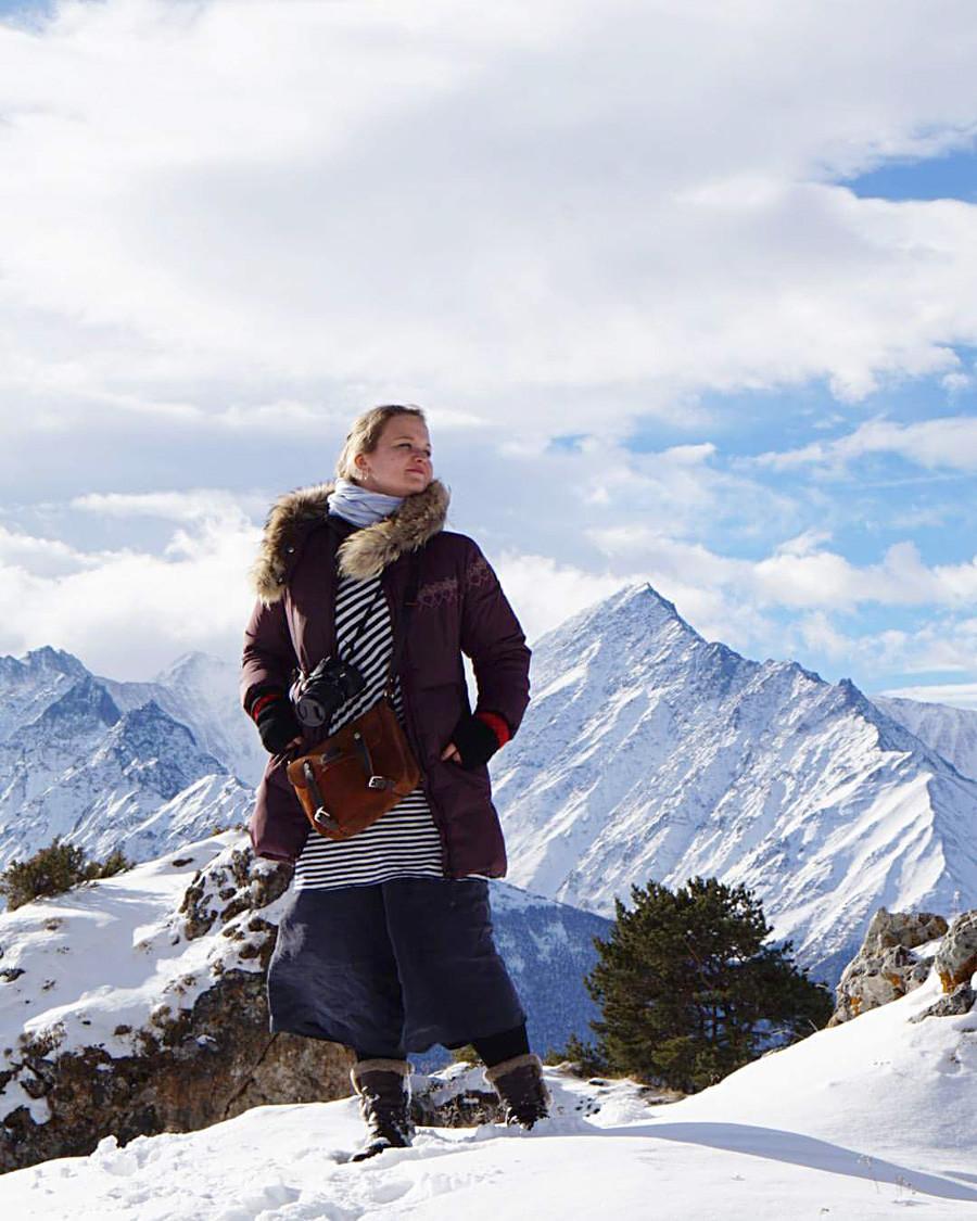 Respirando fundo nas montanhas do Cáucaso, Inguchétia.