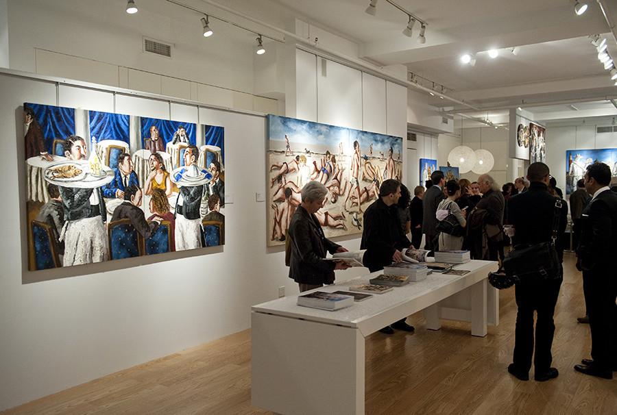 A galeria exibe Natalia Nesterova, uma das artistas russas mais aclamadas internacionalmente no cenário da arte contemporânea.