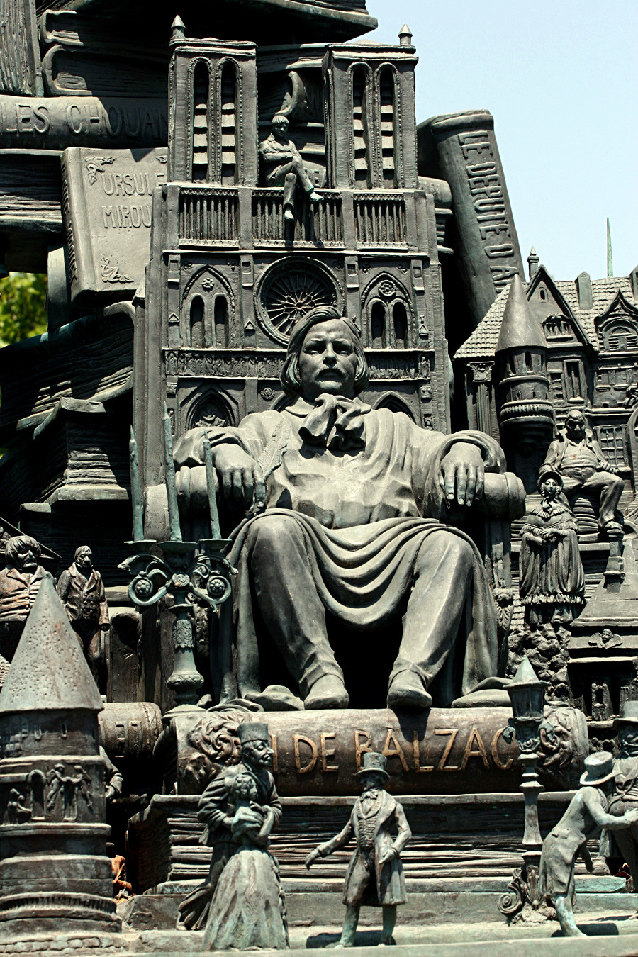 Monumento dedicado a Honore de Balzac en Francia.
