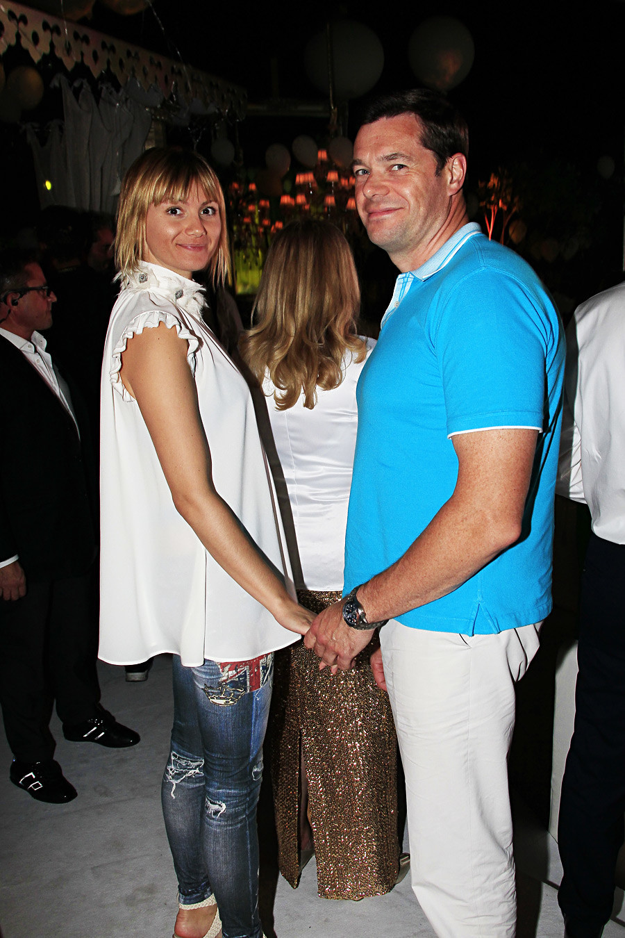 Aleksej Mordašov sa suprugom
