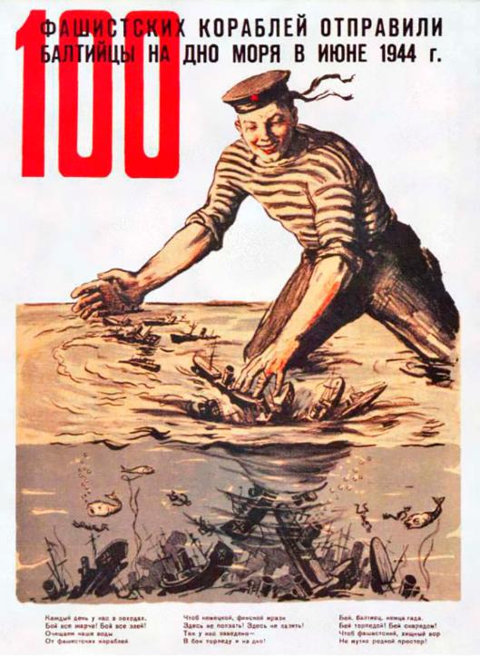 Baltska flota je junija leta 1044 na dno morja poslala 100 fašističnih ladij.