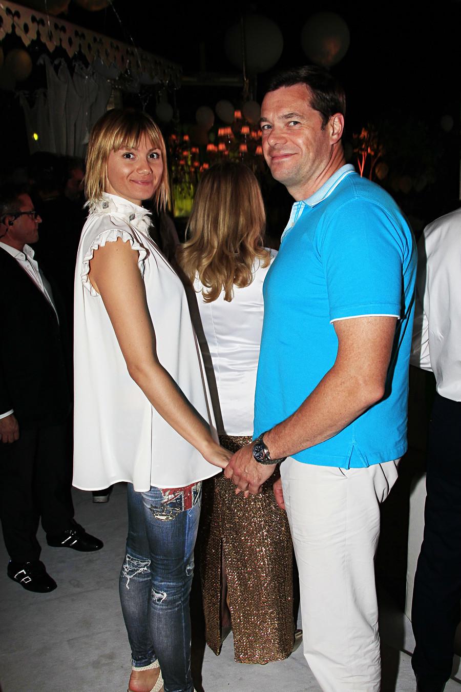 Алексей Мордашов и съпругата му Елена